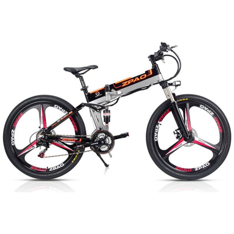 ZPAO 21 Velocidade, 26 polegada, 48 V/15A 350 W, Bicicleta Elétrica de Dobramento, mountain Bike, bicicleta da Bateria De Lítio, Frame Da Liga de Alumínio, Freio A Disco