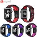 Esporte banda de silicone flexível macio respirável para apple watch série 1 & 2 substituição alça para iwatch pulseira pulseira de borracha 42mm