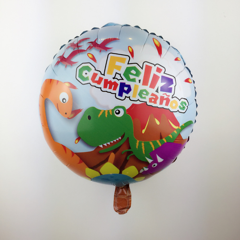 XXPWJ Free Shipping 18nch round dinosaur aluminum balloon children's toys party