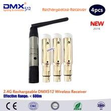 DHL Бесплатная доставка 2.4 ГГц встроенный аккумулятор беспроводной dmx512 приемники привело движущихся головного света wireles комплект
