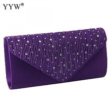hot deal buy satin tiny glass beads clutches for women fashion evening bags purple chain shoulder bags party wedding vintage pearl softback