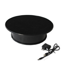 Electronic Components Supplies - Electronics Stocks - Stylish Black Velvet Top Electric Motorized Rotary Rotating Display Turntable For Jewelry Display Stand