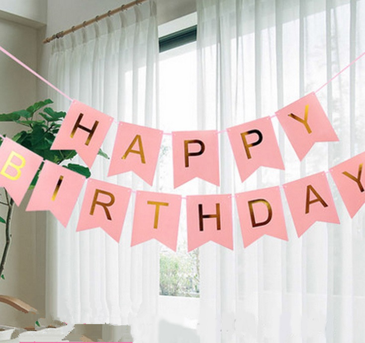 Glitter Paper Birthday Party Hanging Bunting Banner Flag: Aliexpress.com : Buy Glitter Happy Birthday Bunting Banner