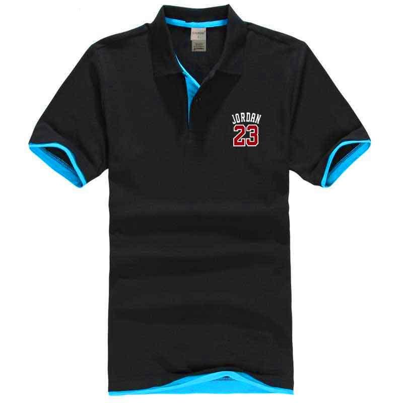 2018 Spring Summer Men's Quick Dry Breathable Casual   Polo   Shirt Men Jersey Short Sleeve Shirts Jordan 23 S-XXL