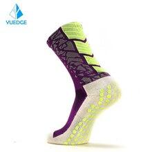 Stockings Soccer-Socks YUEDGE Anti-Slip Outdoorcycling Running 1pair Women Sport Cotton