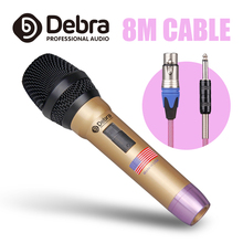 Debra DH-58S Top quality Wired Handheld Vocal Microphone For Professional Performance Karaoke Speech Hip hop Rap DJ top quality ksm8 professional karaoke dynamic super kidney vocal wired microphone microfone microfono microphone