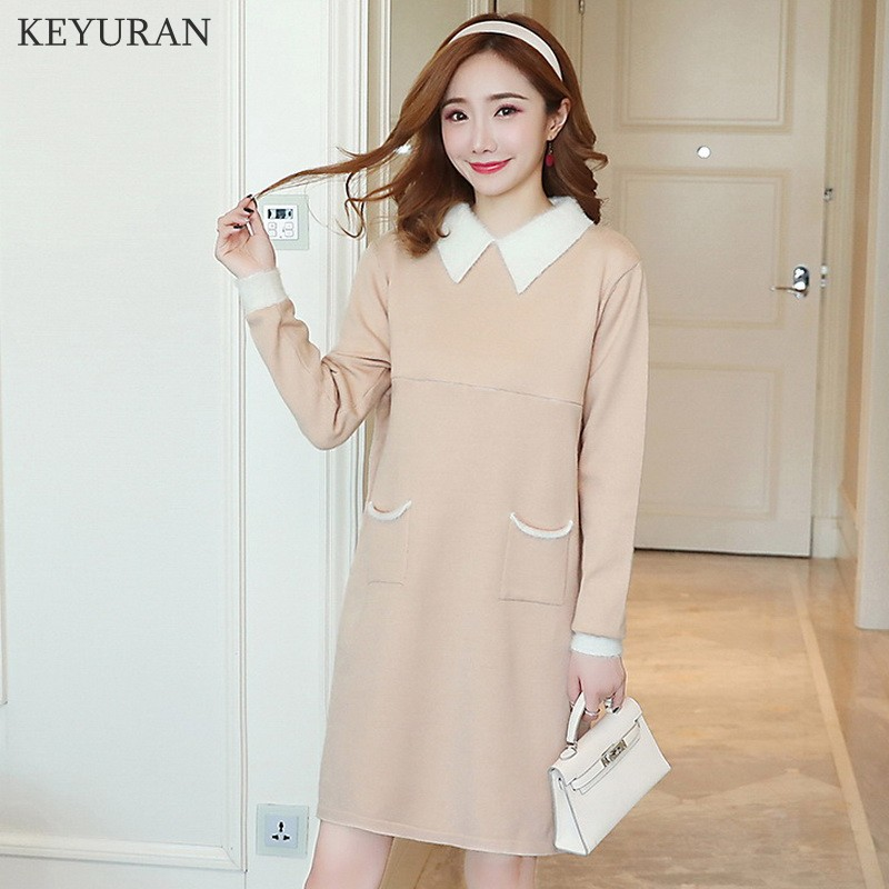 Knitted Maternity Nursing Sweaters Autumn Winter Fashion Lapel Breastfeeding Shirts Clothes for Pregnant Women Pregnancy Tops autumn winter new pregnant women sweater thickening slim package hip warm clothing knitted shirt maternity sweaters