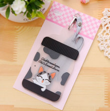 Kawaii NEW Chi's CAT MILK Bottle Shape 12*7.2CM Silicone BUS & ID Card Holder Case Pouch BAG Holder Case Cover(China)