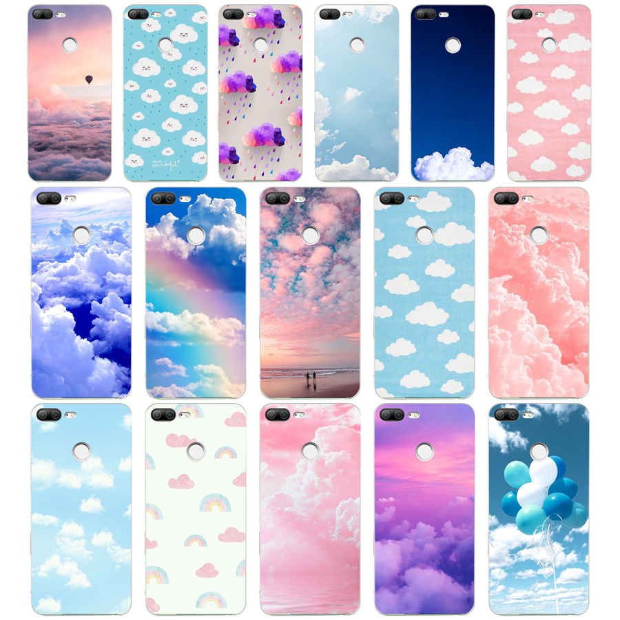 254H clouds on <font><b>blue</b></font> sky Soft Silicone Tpu Cover phone <font><b>Case</b></font> for huawei <font><b>Honor</b></font> <font><b>9</b></font> <font><b>Lite</b></font> 10 p <font><b>9</b></font> 10 <font><b>lite</b></font> image