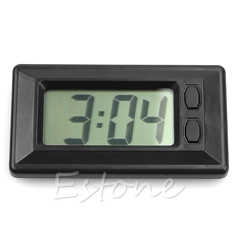 Digital-Clock Motorcycle-Accessories Black Universal For Car-Truck-Bike-Scooter Interior