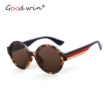 Good Win Mirror Sunglasses Women Men Luxury Brand Vintage Retro Round Female Sun Glasses Male Sexy Leopard Multicolor Eyegalsses