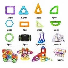 70 unids/lote diseñador magnético imán de juguete bloque de construcción de plástico bloques 3d juguetes educativos de diy para los niños regalo