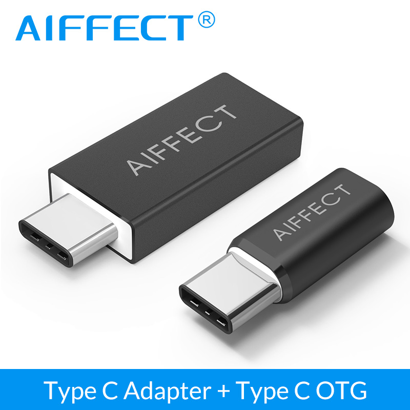 AIFFECT USB Type C Male to USB 3.0 Adapter and Micro USB to USB C 3.1 Cable Adapter for Xiaomi 4C LG G5 Nexus Macbook HTC