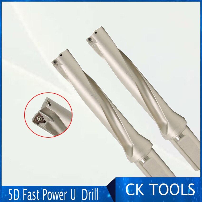 Tipo de broca longo rápido do wc do metal zd05 14mm-32mm do diâmetro 5d para perfurações indexáveis indexáveis da inserção do furo raso da perfuração de u