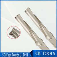 5D schnelle lange durchmesser metall ZD05 14mm-32mm WC Bohrer Typ Für U Bohren Flacher Loch wende hartmetall-wendeschneidplatte bohrer