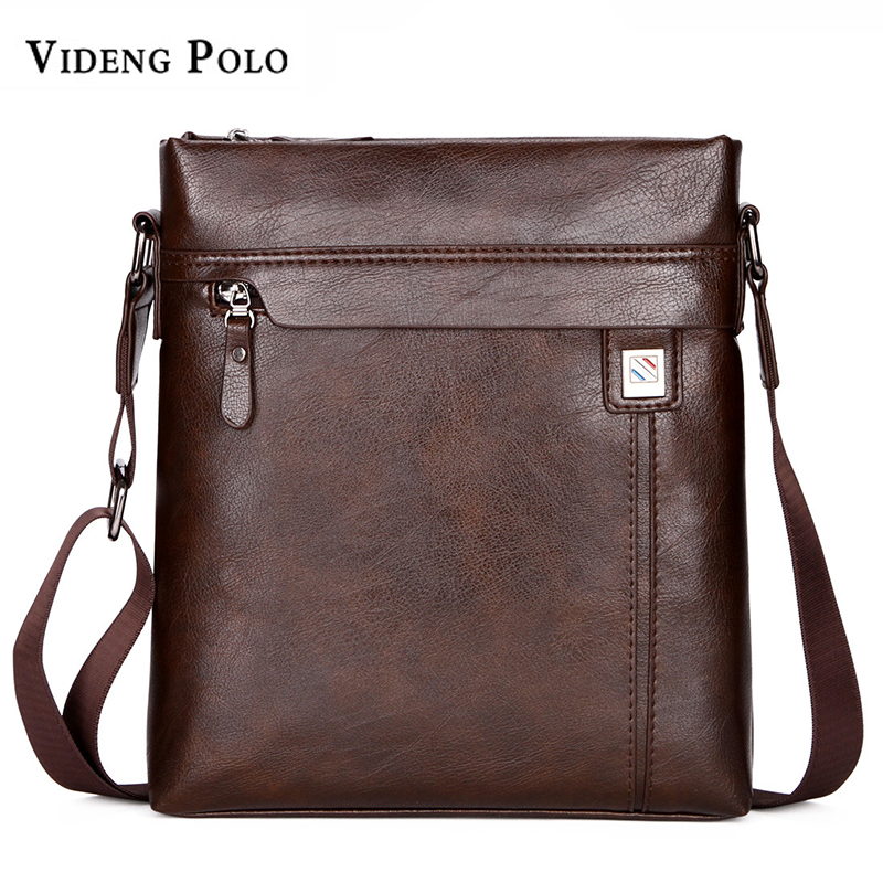 все цены на VIDENG POLO Men Bag New Famous Brand Leather Casual Men's Crossbody Shoulder Bag Business Mens Messenger Bag Vintage male bolsas онлайн