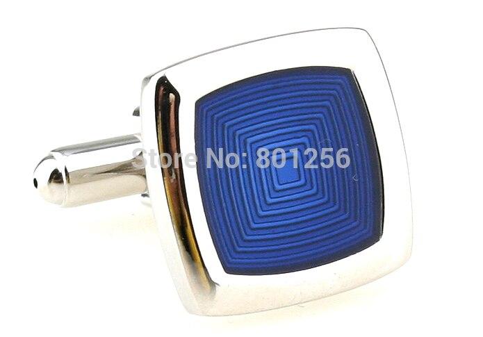 33b751bd0e864 Бесплатная доставка Мода Запонки синий цвет Эмаль дизайн медь материал  запонки оптом и в розницу