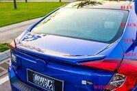 Выше Star ABS Материал багажник автомобиля заднее крыло спойлер с краской для Honda Civic 2016 2018