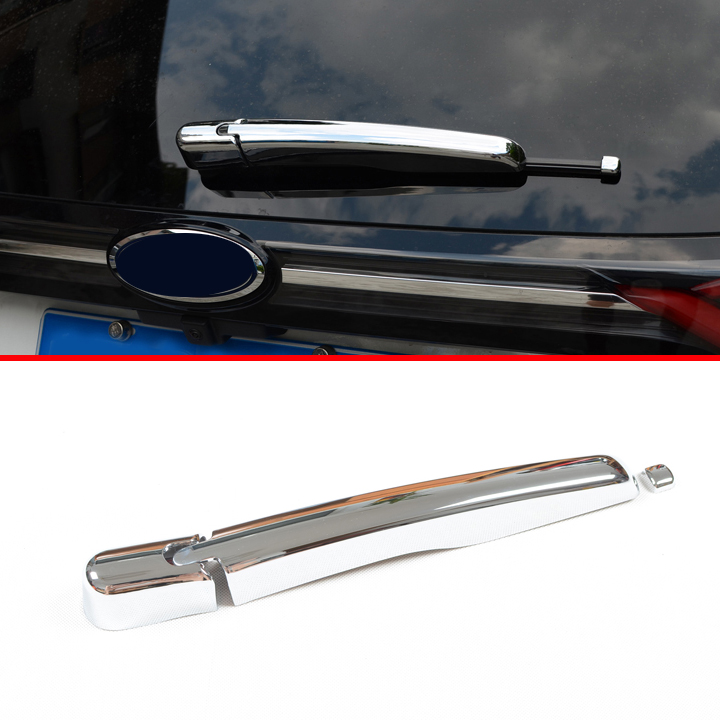 For Ford Edge   Abs Chrome Rear Window Wiper Nozzle Cover Trim