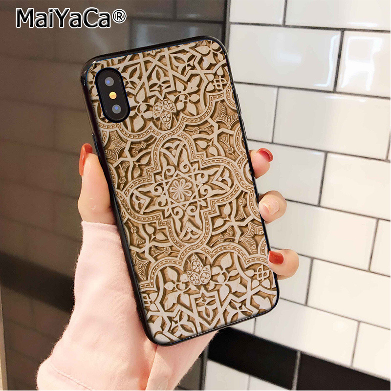 MaiYaCa Vintage Arab Muslim Islamic New Personalized Soft Cover Case for iPhone 8 7 6 6S Plus 5 5S SE XR X XS MAX Coque Shell