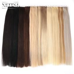 """Neitsi прямо уток кожи клей волосы ни Реми ленты в Пряди человеческих волос для наращивания 16 """"18"""" 20 """"22"""" 24 """"двусторонняя изолента 13 Цветов"""