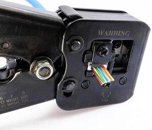 Image 4 - 50/100pcs Rj45 Connettore Cat5e Cat6 Connettore di Rete Schermato 8Pin modulare utp rj45 tappi per le orecchie hanno foro HY1525