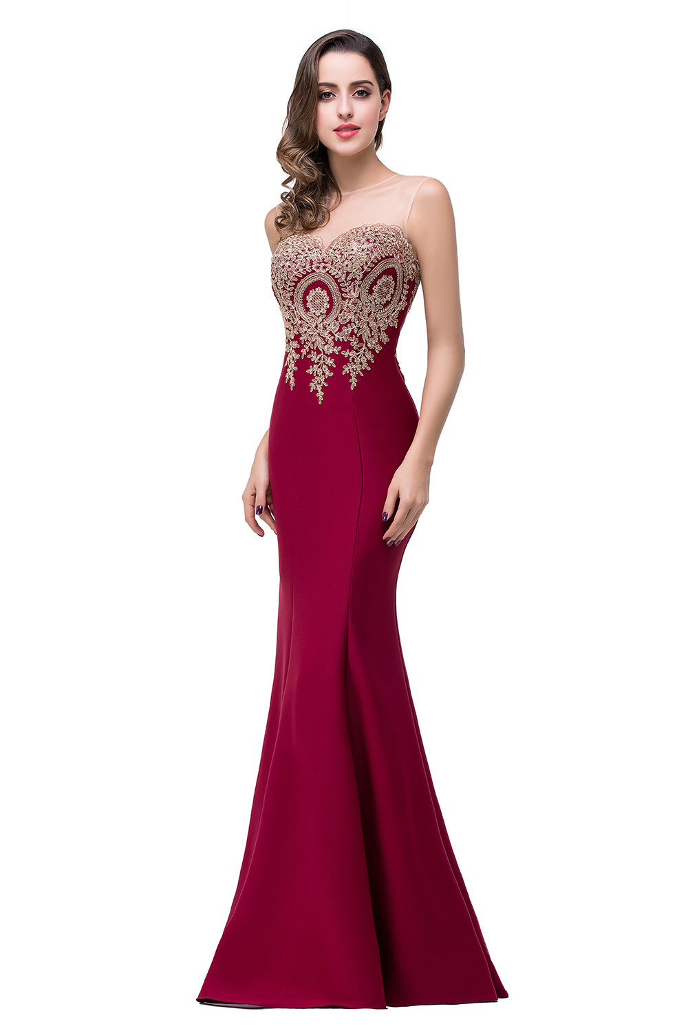 Cheap Mermaid New Royal Blue Long Evening Dress 2019 Robe De Soiree Longue Formal Party Evening Gown With Appliques in Evening Dresses from Weddings Events