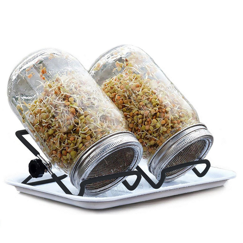 2 Pack Stainless Steel Sprouting Stands Foldable Sprouter Black Non slip Scaffolds for Mason Jar Lid/iPad Tablet Phone Stand|Storage Holders & Racks| |  - AliExpress