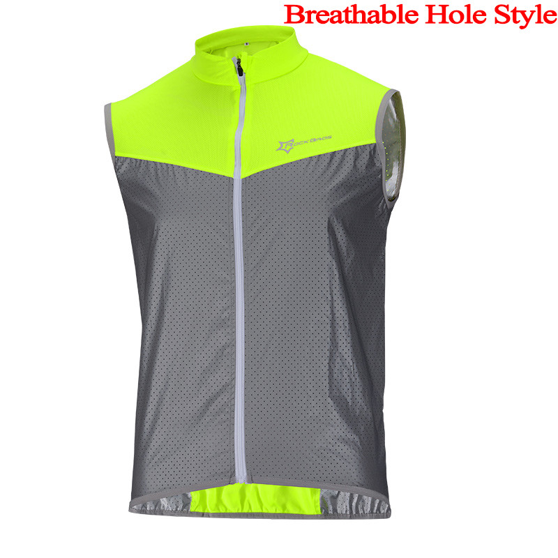 Cycling Rockbros Safety Reflective Vest Bicycle Jersey Jacket Cycling Sleeveless Men Night Running Bike Breathable Windproof Coat