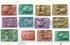 The zodiac a soaps mold silicone moulds soap soap mold