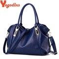 Yogodlns diseñador mujeres del bolso de la pu bolsos de cuero bolsos de las señoras totes hobos bolso de hombro portátil bolsa de señoras de la oficina