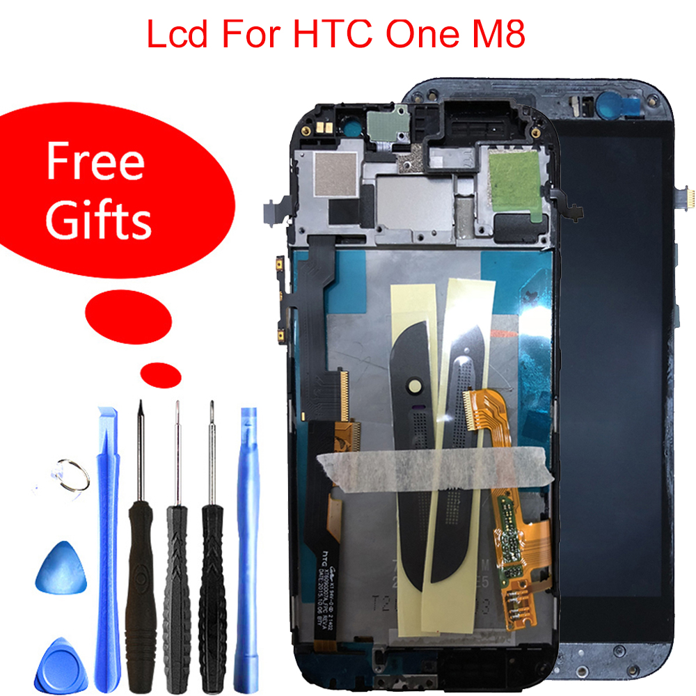 100% Tested For HTC One M8 LCD Display Touch Digitizer Sensor Glass with Frame Assembly 5.0inch For HTC M8 831c lcd replacement100% Tested For HTC One M8 LCD Display Touch Digitizer Sensor Glass with Frame Assembly 5.0inch For HTC M8 831c lcd replacement