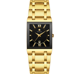 Image 5 - 2020 Luxury Mens Watch Quartz Analog Wristwatch WWOOR 8858 Man Stainless Steel Rectangular Business Watch Relogio Masculino #a
