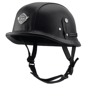 Мотоциклетный шлем уникальный 4 типа M/L/XL немецкий стиль полулицевой немецкий шлем кожаный винтажный мотоциклетный шлем
