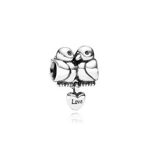 Jewelry & Accessories 100% Sterling Silver 925 Vintage Mandarin Duck Beads With Love Heart Fit Bracelets For Lovers Valentines Day Pss086,1pcs Sold Modern Techniques