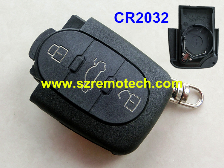 Free Shipping Replacement Button Remote Key Fob Cover Fit For - Audi car key battery