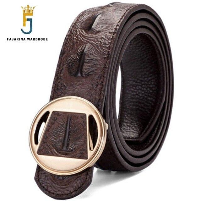 FAJARINA único de moda de diseño de estampado de cocodrilo puro genuino de  piel de vaca 52262a3d7f95
