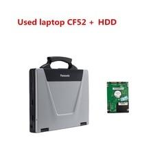 ใช้Panasonic CF 52 CF52 CF 52 ทหารToughbookการวินิจฉัยแล็ปท็อปคอมพิวเตอร์ทำงานร่วมกับIcom A2/Mb Star C3 C4 c5 C6/Vas 5054A