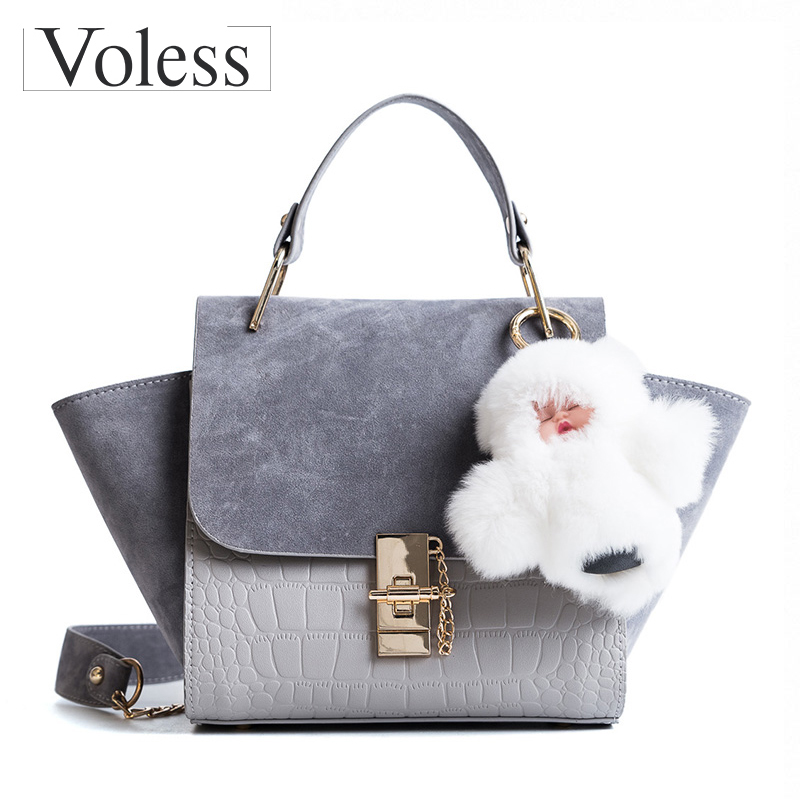Alligator Shoulder Bags Women Leather Handbags Bolsa Feminina Rabbit Pendant Women Bag Wing Messenger Bags Female Tote Bag Sac kzni genuine leather bag female women messenger bags women handbags tassel crossbody day clutches bolsa feminina sac femme 1416