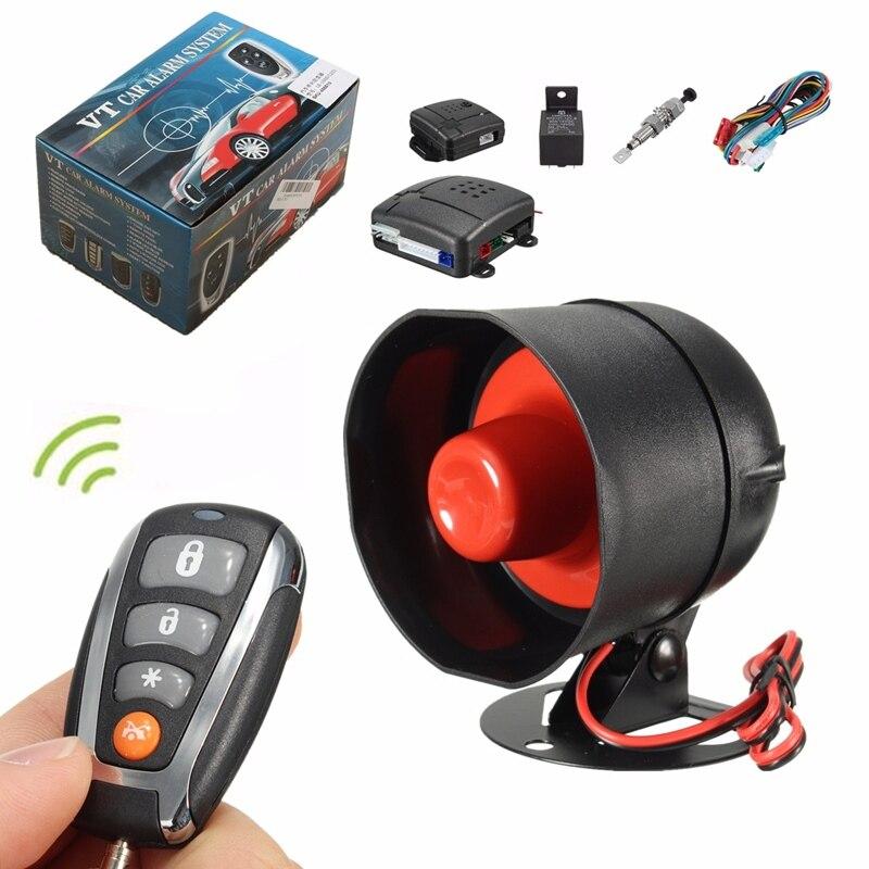 imágenes para L202 Universal One Way Auto Sistema de Seguridad Sirena de Alarma de Coche de Entrada Sin Llave Sistema de Cierre Centralizado Bloqueo + Control Remoto