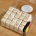 Nette katze stil dichtungssatz enthält stempelkissen briefmarken 20 teile/satz 1 5*1 5 * 3com kostenloser versand Stempel Heim und Garten -