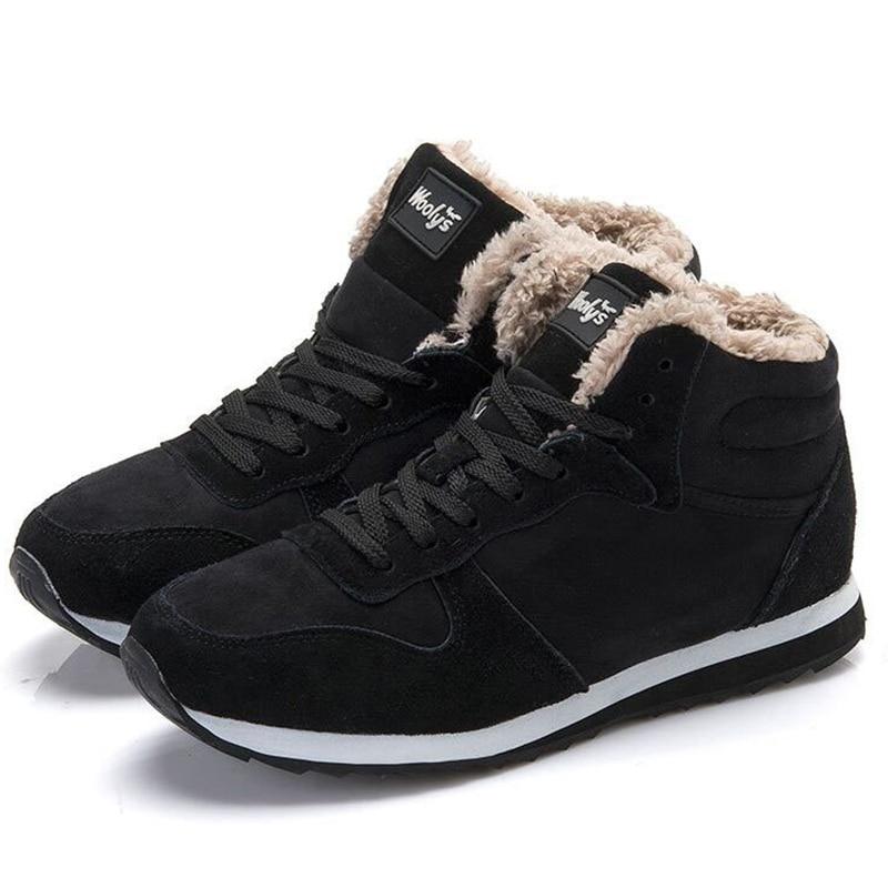Men s Casual Shoes Keep Warm Men Winter Shoes Plush Snow Shoes Men Fashion Leather Sneakers
