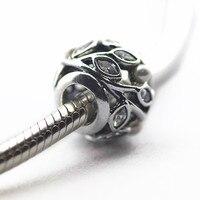 Pandulaso Leucht Blätter Perlen Perle für Schmuck machen Fit Armbänder & Armreifen muttertag Lose Perlen Sterling silber schmuck