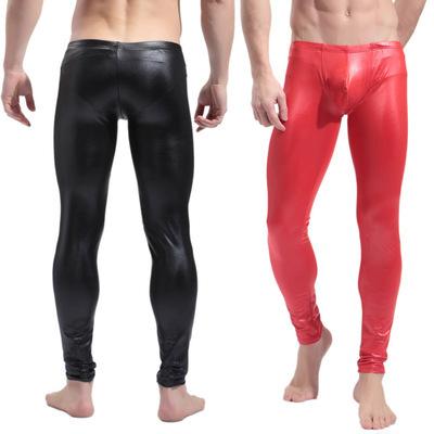 2016 nueva llegada de moda los pantalones de caballero lencería Sexy body de cuero de imitación de una pieza Clubwear productos envío gratis