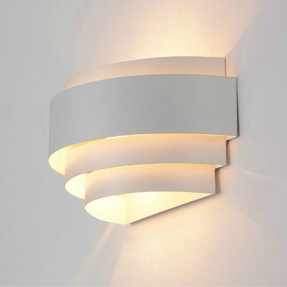 Lighting Wall Lights Us 22 44 49 Off Modern Wall Lights Up Down Lamp Indoor Lighting Wall Sconces Fixtures With White E27 110v 220v For Home Bedside Bedroom Stairs In