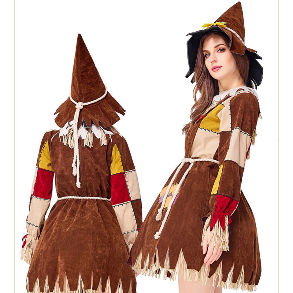 Halloween Adult COS Fairy Tale Oz Trail Scarecrow Makeup Conversation Show Parent child Costume Holiday Festival in Movie TV costumes from Novelty Special Use