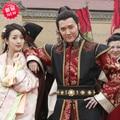 Nueva TV juego en General Lan Ling tradicional Hanfu traje en norte y del sur reinos negro rojo traje generales