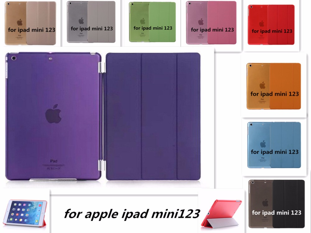 NEW PU Leather Slim Magnetic Front Smart Cover Skin+Hard PC Back Sleep magnet Case For Apple ipad mini 1 2 3 case - YCJOYZW