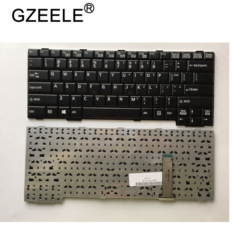 GZEELE New Keyboard For Fujistu  E751 E752 S752 S761 S762 S560 S760 E741 MG/G70 English Laptop Keyboard US Version Black