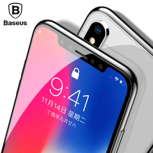 Baseus 0.3mm Screen Protector Tempered Glass For iPhone X 10 Soft Edge 3D Full Cover Protection Toughened Film iPhoneX